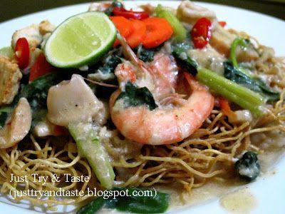 Resep Mie Titi Mie Siram Makassar Makan Malam Resep Makanan Memasak