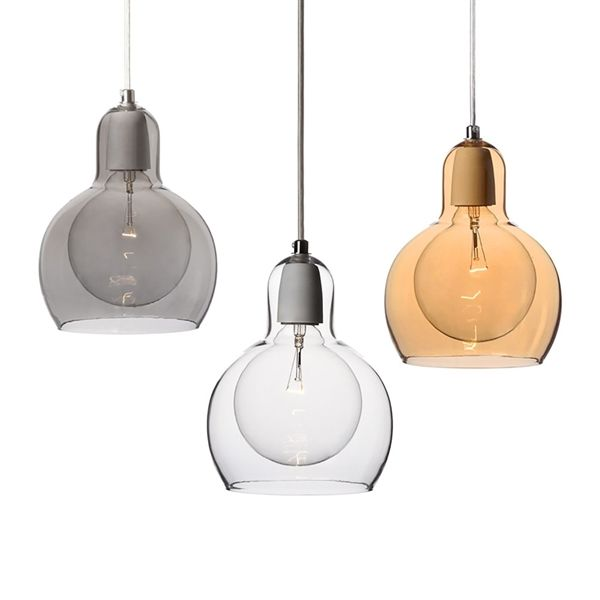 Buy Mouth Blown Glass Modern Minimalist Pendant Light With 1 Dining Room Lighting Ideas