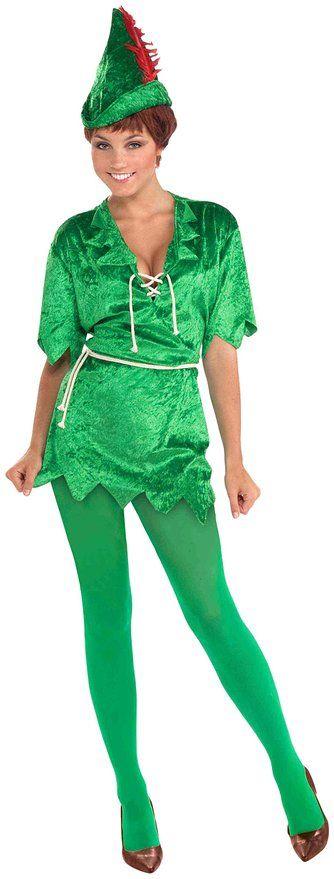 Forum Novelties Women's Peter Pan Costume, Green, X-Small/Small
