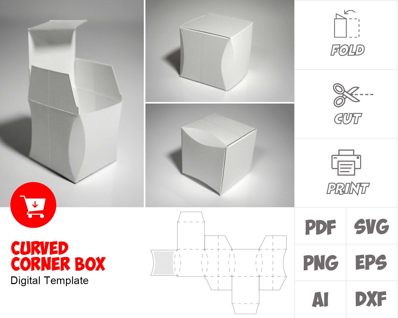 Curved Corner Box Template Box Template Carton Design Packaging Templates