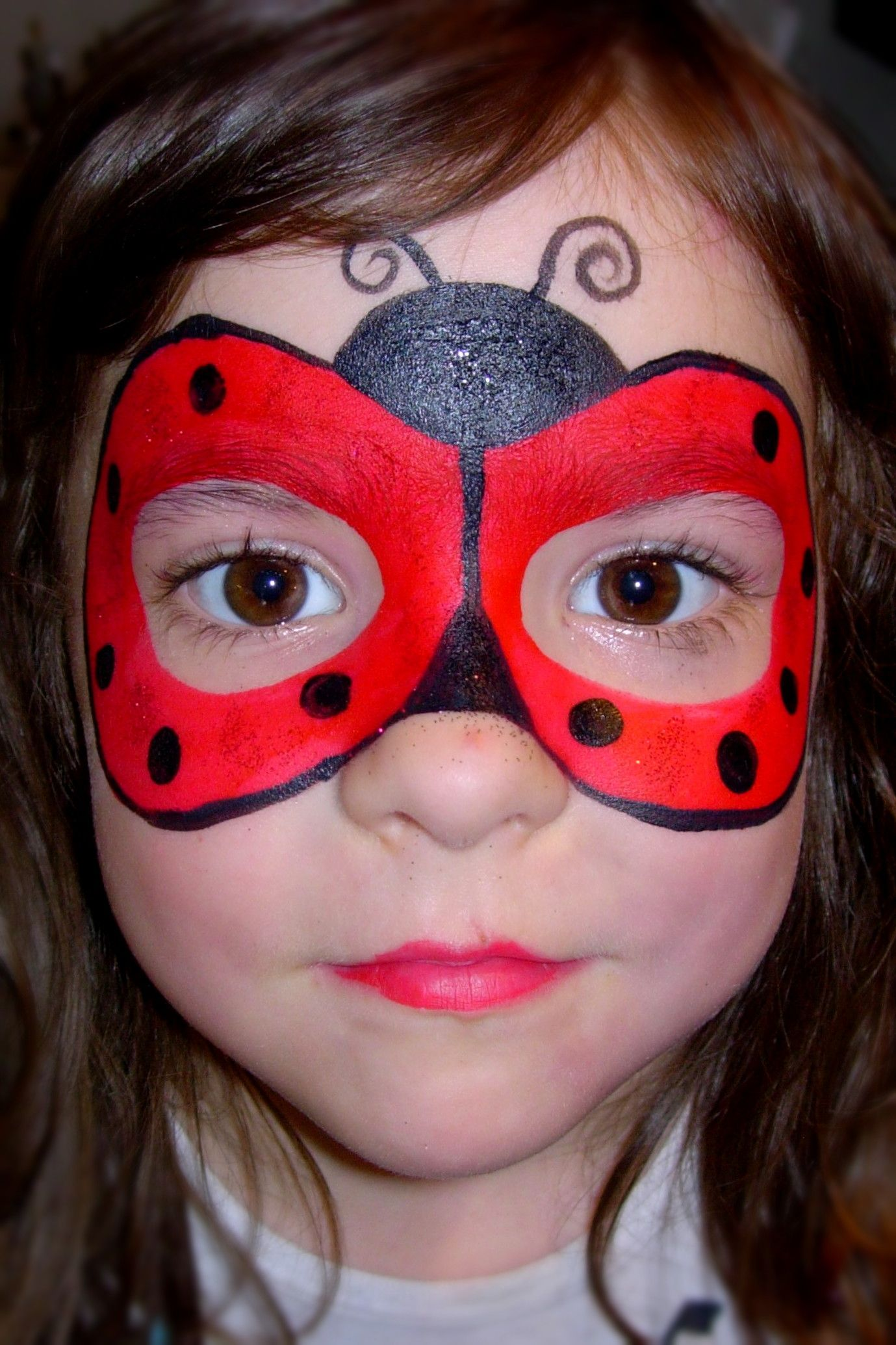 lady bug mask smiley faces by jo face painting. Black Bedroom Furniture Sets. Home Design Ideas