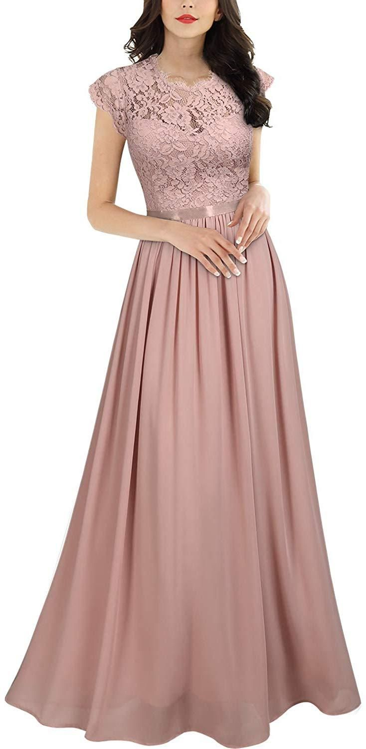 Photo of Women's Formal Floral Lace Evening Party Maxi Dress
