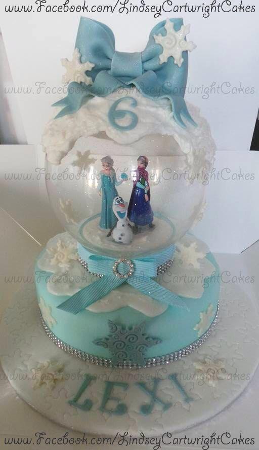 Disney frozen SnowGlobe cake