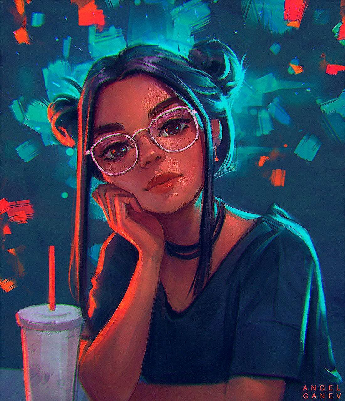Digital Illustration finds of the day in 2020 (With images) | Girly art, Digital art girl, Drawings