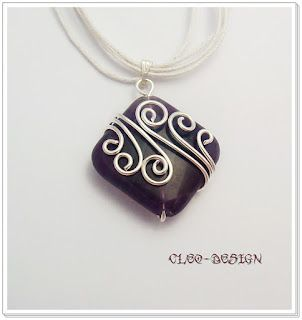 Love this simple yet elegant wire wrap Cleo wire jewelry design