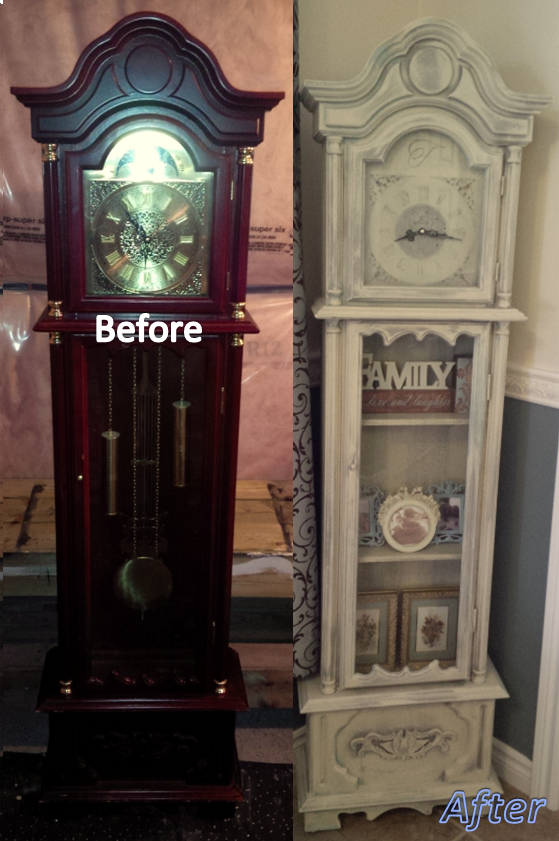 grandfather clock png. grandfather clock before and after. annie sloan chalk paint in coco, duck egg, png