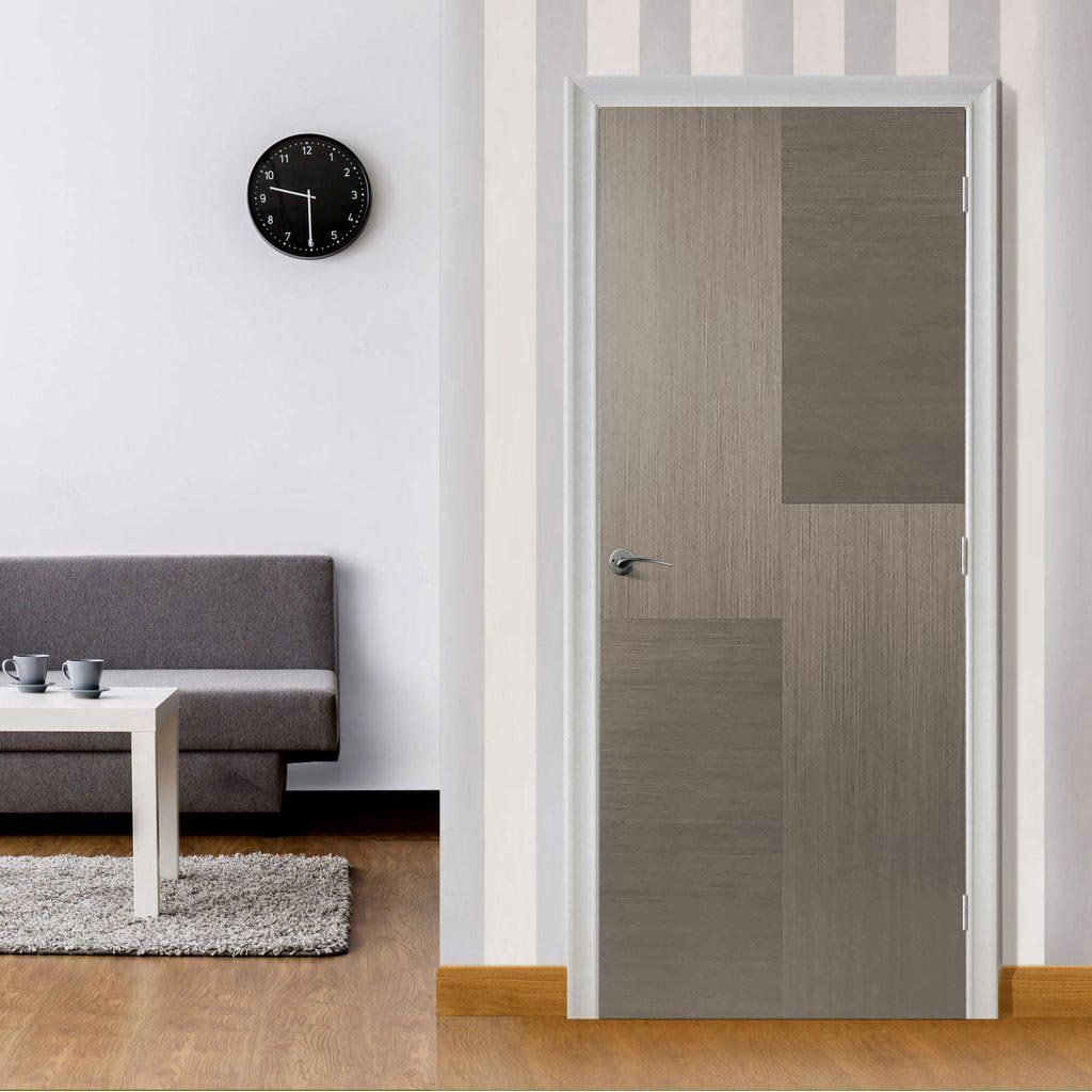Hermes Chocolate Grey Flush Internal Door Is 1 2 Hour Fire Rated And Prefinished Lifestyle Image Door Cho Fire Doors Internal Doors External Fire Doors