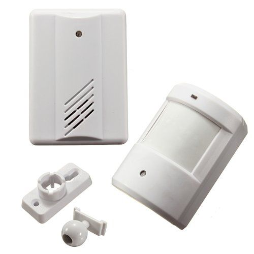 Infrared Wireless Doorbell Alarm System Motion Sensor With Receiver Visit The Image Link For More Deta Home Security Systems Alarm System Wireless Doorbell