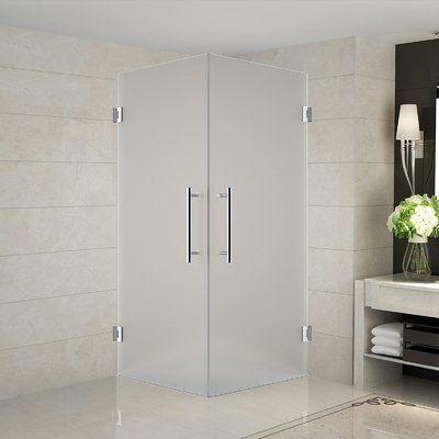 48 X 76 Single Sliding Frameless Shower Door Shower Enclosure