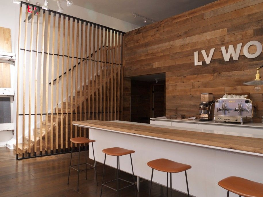 Awesome  Wooden Interior Design Kitchen Bar