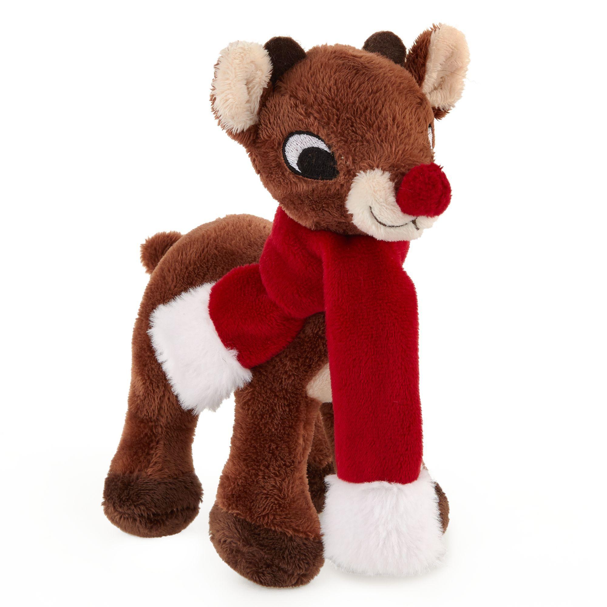 Rudolph Holiday Reindeer Dog Toy Plush Squeaker Petsmart Dog