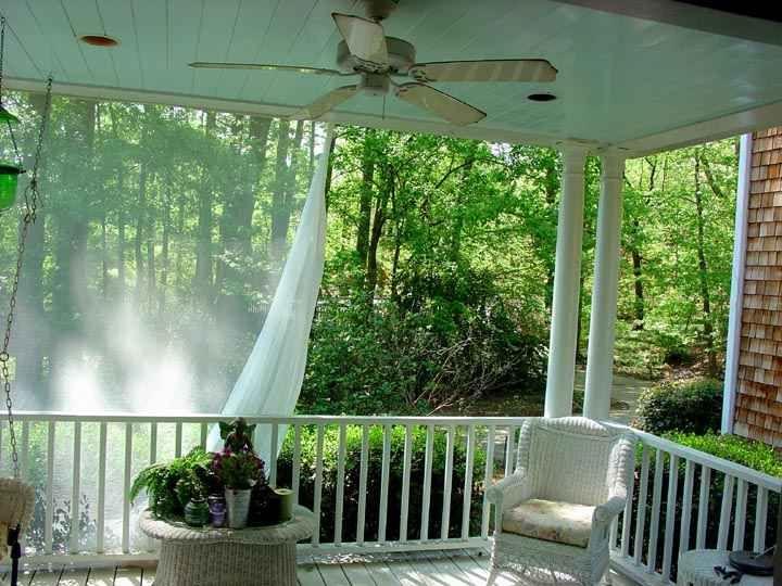 white mosquito netting