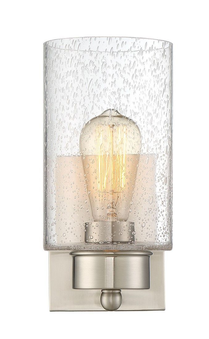 Trade winds 1 light sconce in brushed nickel