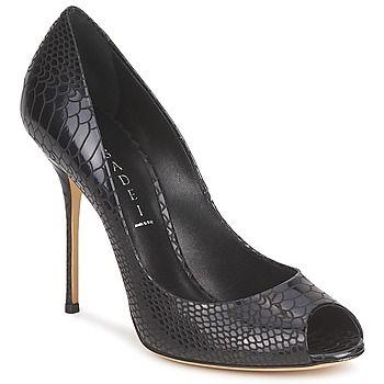 Rebajas - Tacón mujer Casadei Zapato Casadei con tacón de aguja. En cuero bovino con efecto reptil. Puntera abierta. Silueta femenina y atemporal.