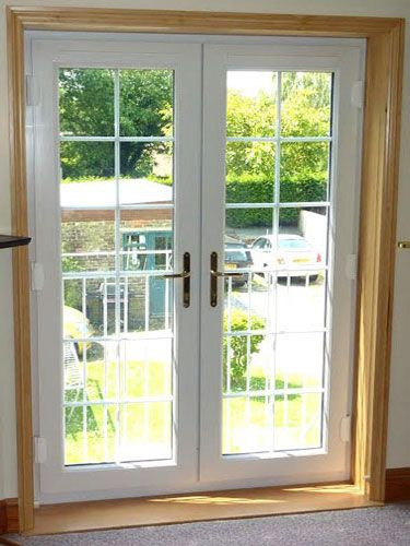White French Doors With Internal Georgian Bars French