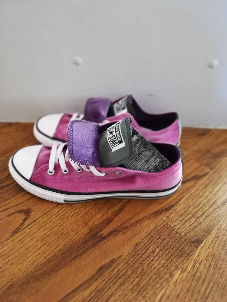 a4914b111c NWT GIRLS CONVERSE CHUCK TAYLOR DOUBLE TONGUE OX PINK SNEAKERS SHOES SZ  5.5Y  fashion  clothing  shoes  accessories  kidsclothingshoesaccs   girlsshoes (ebay ...