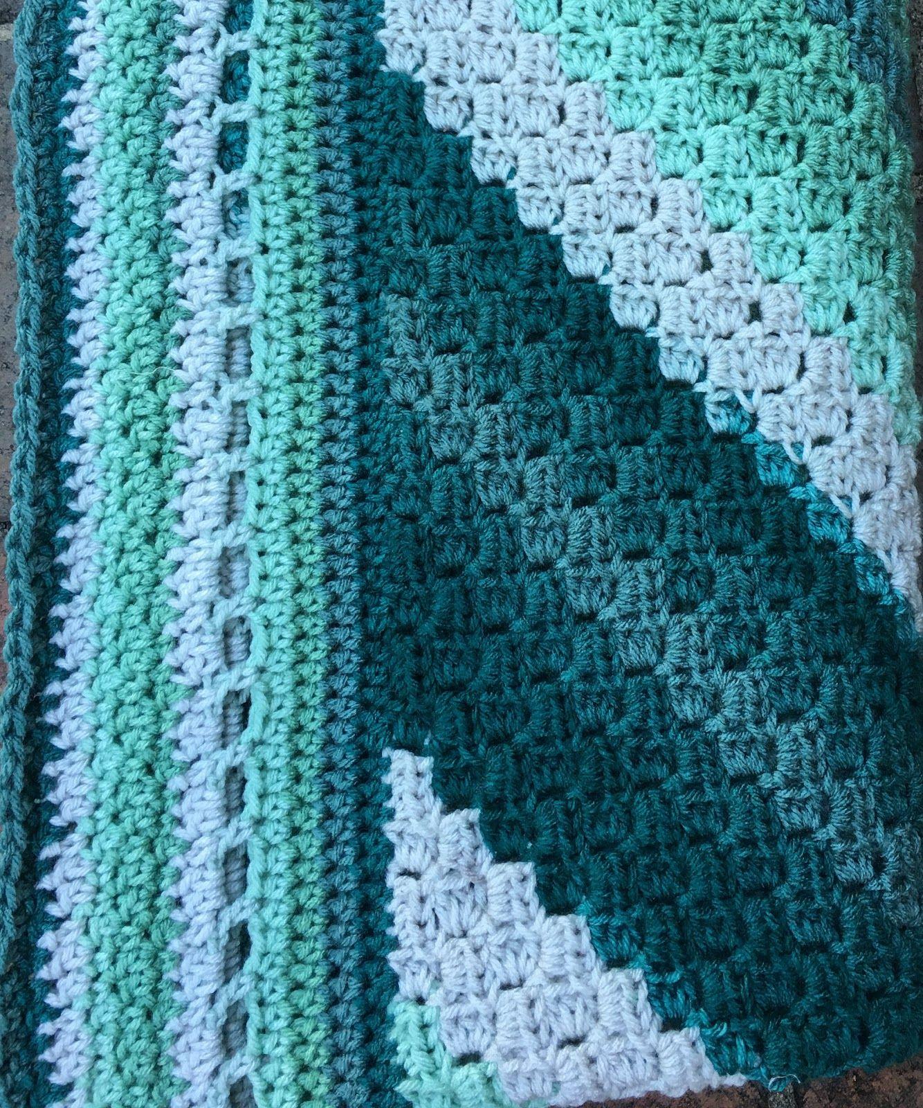 Forestry c2c blanket blanket yarn bee crochet squares