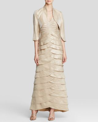 Adrianna Papell Gown - Shutter Pleat with Jacket Women ...