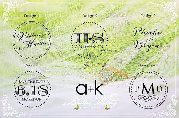 Wedding Logo Embossing Stamp Monogram Embosser