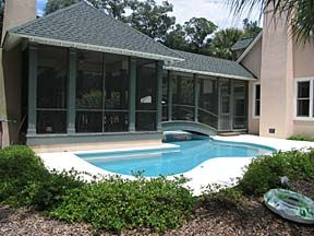 Screened In Porch With Small Pool | Pool And Screened In Porch
