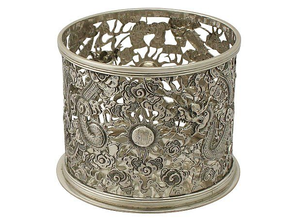 Chinese Export Silver Bottle Coaster