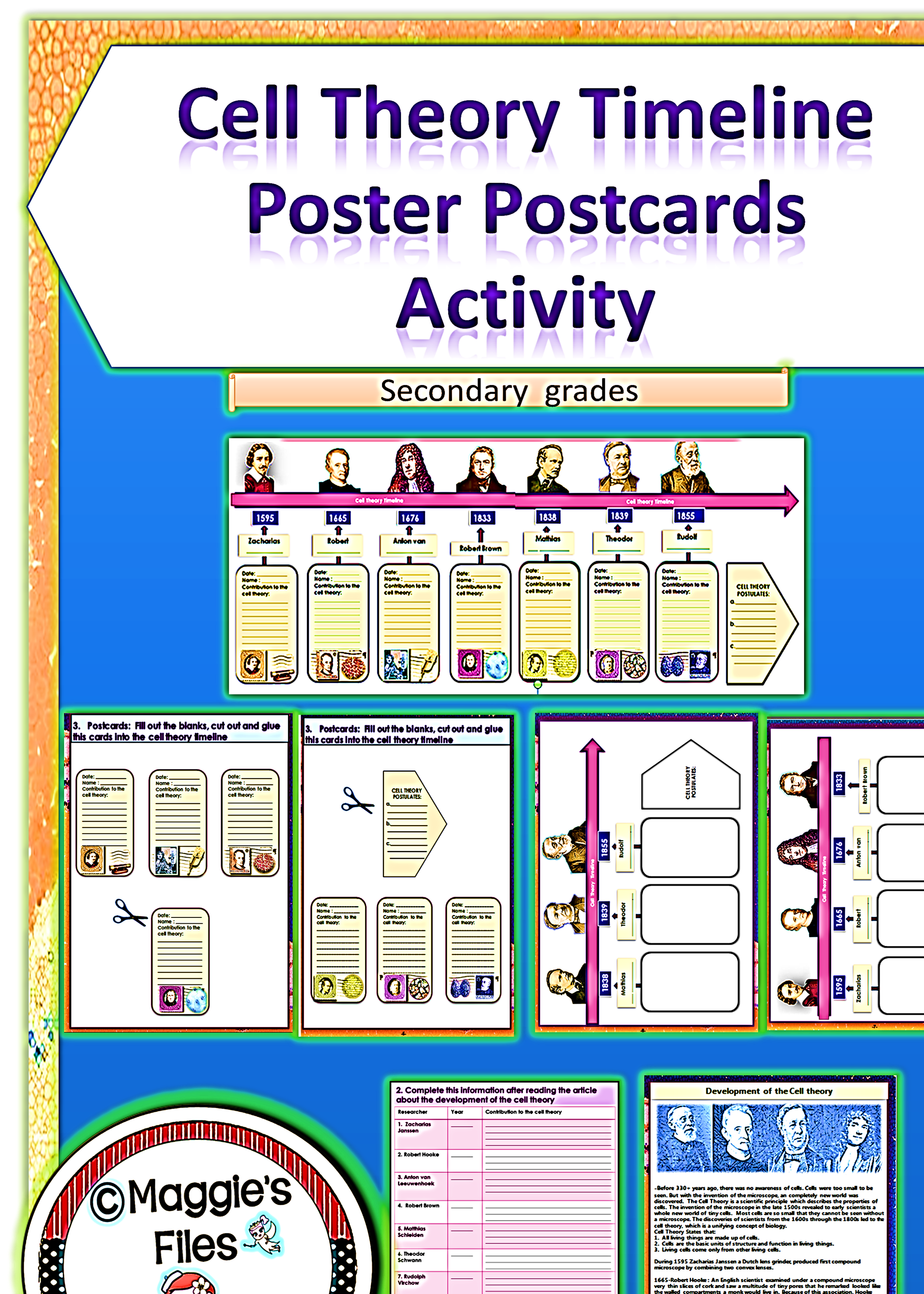 Students use the game pieces page which contains pictures httpteacherspayteachersproductcell theory poster postcards activity 1551103 the cell theory poster postcards activity is design to help you robcynllc Images