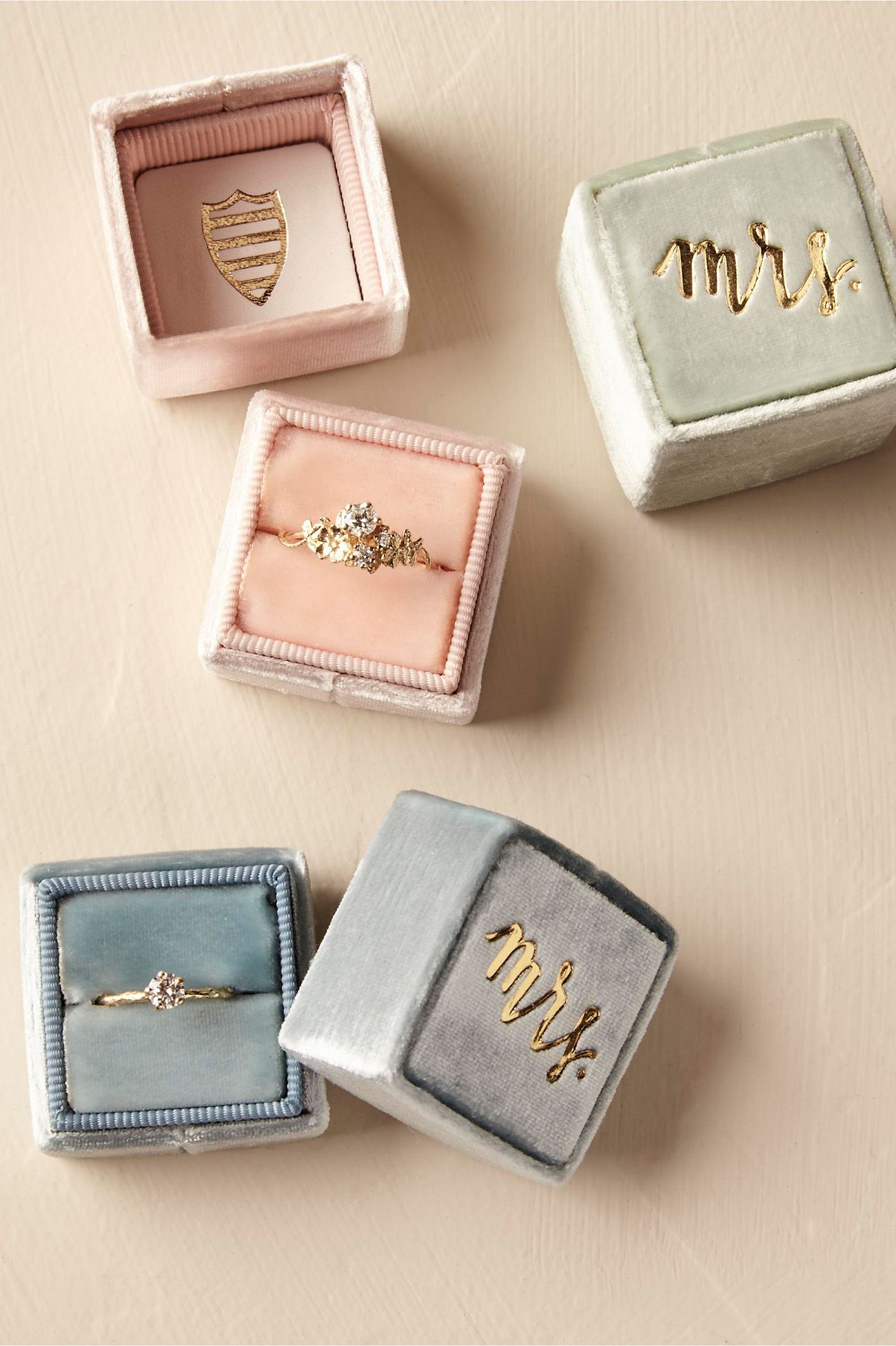 A Bhldn Exclusive Collaboration With The Mrs Box These Pee Velvet Ring Bo Make For Stunning Pictures This Special Item Is Handcrafted Upon