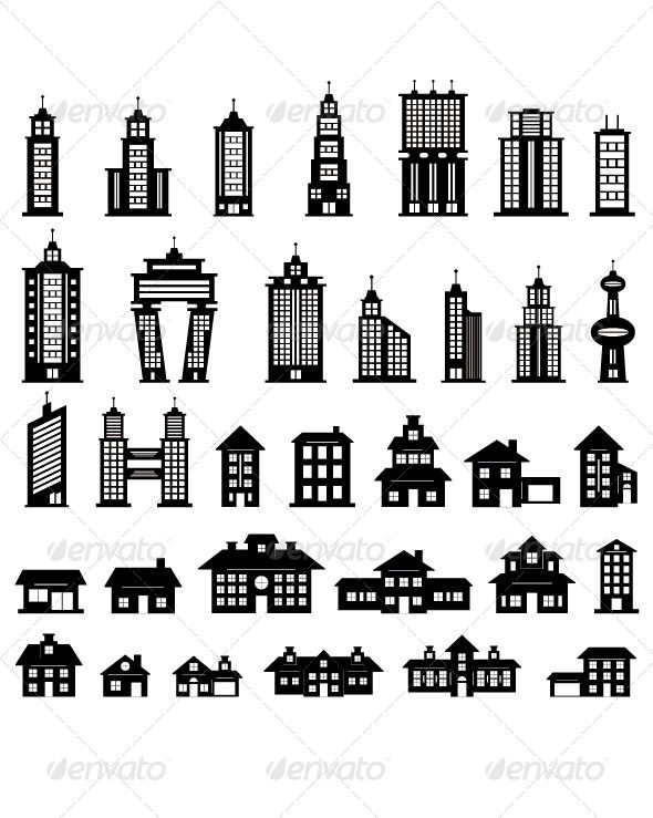 Building Black And White Black And White Construction Business Cards Building