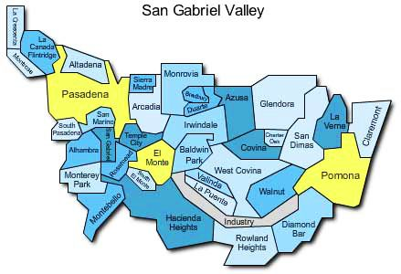 San Gabriel Valley Map A Brief History (and Geography) of the San Gabriel Valley