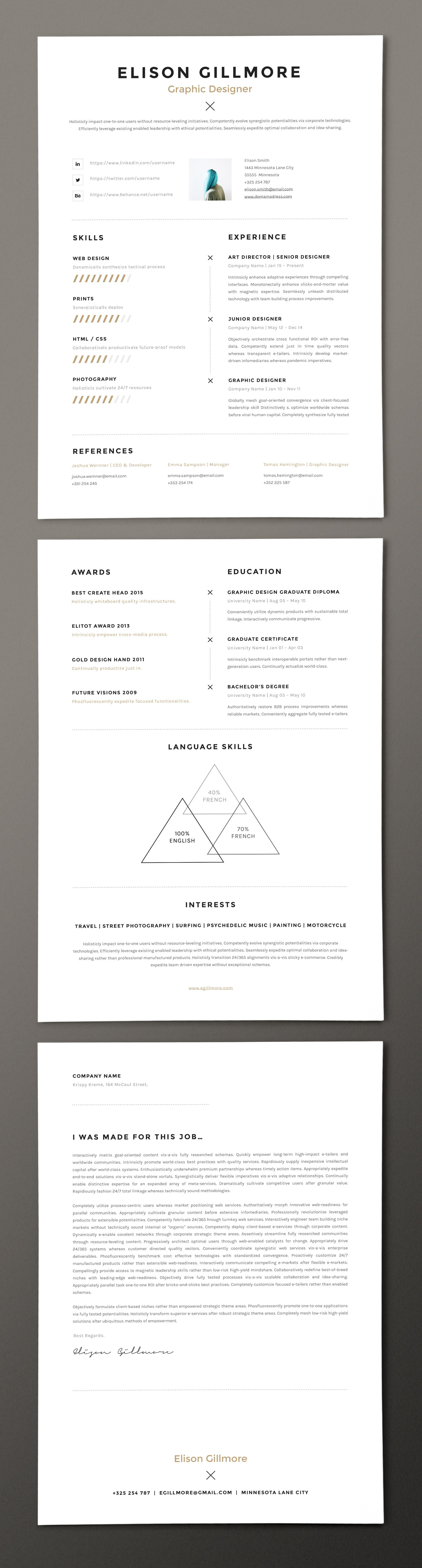 Content of product pack3 resume pages in this versions