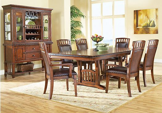 Shop For A Cindy Crawford Home Austin Hills 5 Pc Trestle Dining Room At Rooms To Go Fin Affordable Dining Room Sets Dining Room Sets At Home Furniture Store