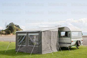 Quality Canvas Caravan Awning 3m x 2.2m Walk Thru ...