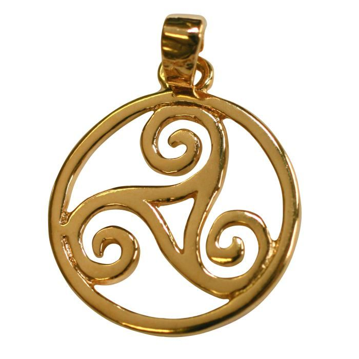 Pendentif Triskel Celte Plaqué Or - Achat / Vente pendentif vendu ...