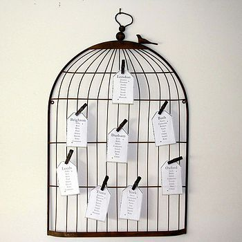 Notonthehighstreet Vintage Birdcage Notice Board Table Plan Baby Inspiration Birdcage Memo Board