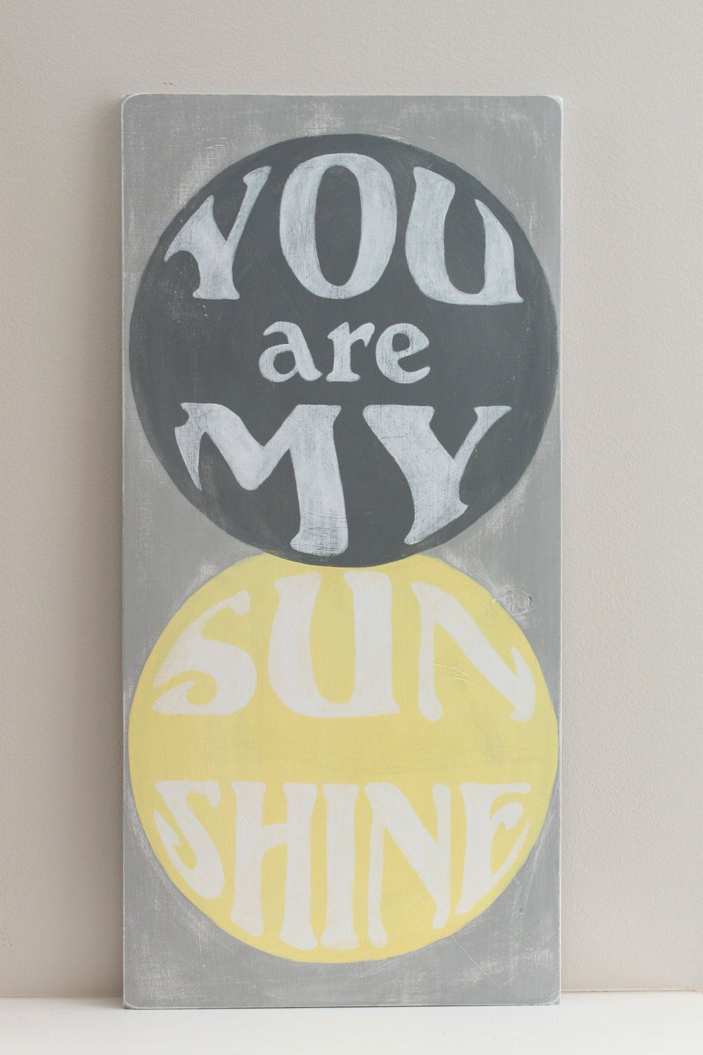 You Are My Sunshine Wood Wall Art Sign, Vintage Style, Quote. $43.00 ...