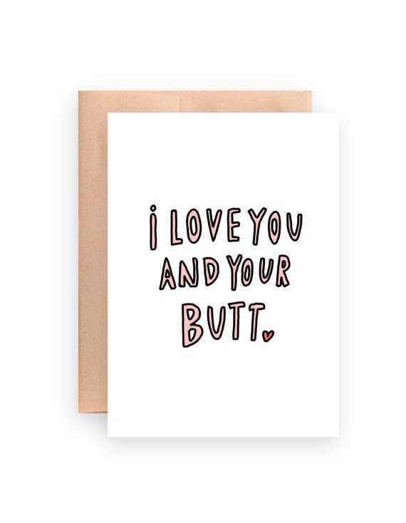 image relating to I Love You Card Printable known as Humorous take pleasure in card / I delight in on your own card / printable by way of