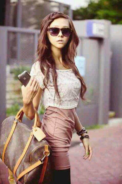She looks high class. Like me. Lol, sometimes.