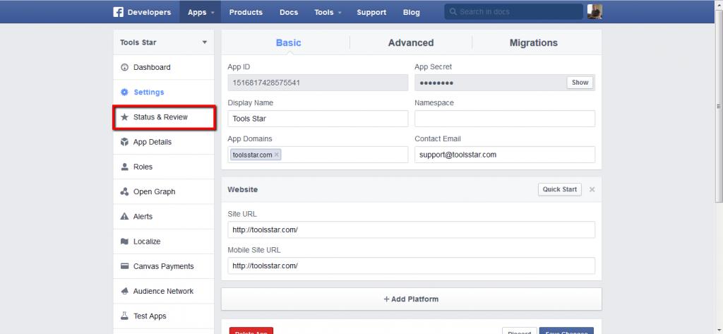 Creating App/API For Facebook Online marketing tools
