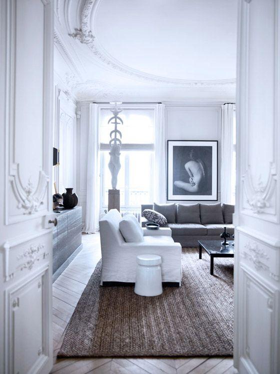 Gilles et Boissier Paris home photo by BW Drejer living room white