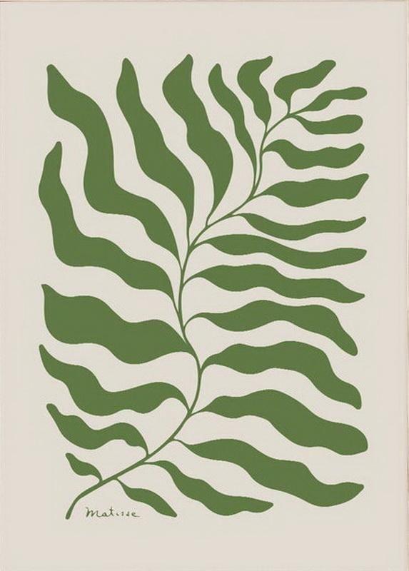 Matisse Print Green Leaf-Matisse-Henri Matisse-Art Exhibition Poster-Mid Century Modern Art-Home Wall Decor-Matisse Print-Matisse Poster - Canvas 24 x 36