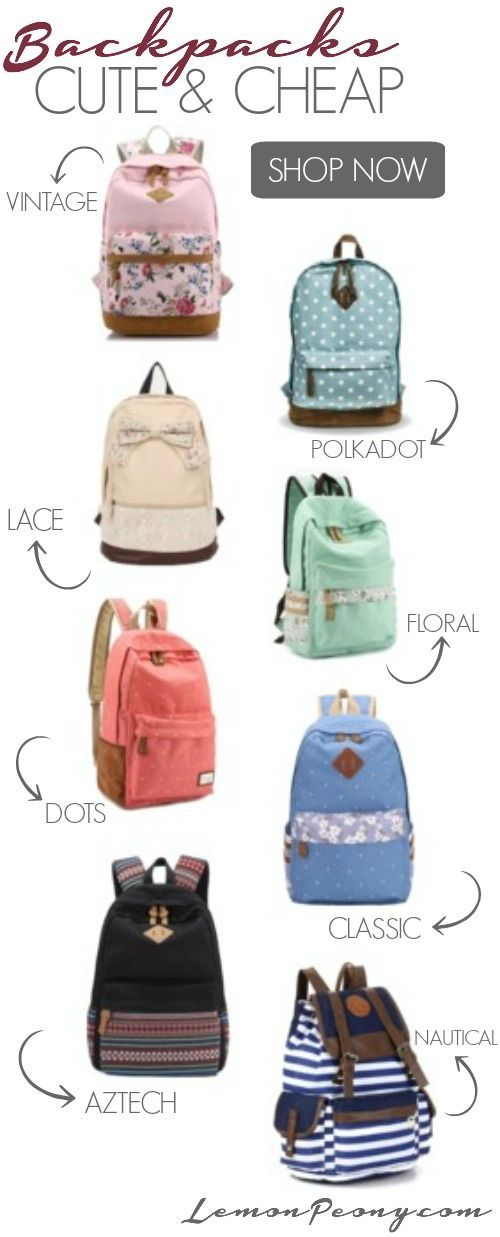 Cute Cheap Backpacks! Back to School Styles that are fun and ...