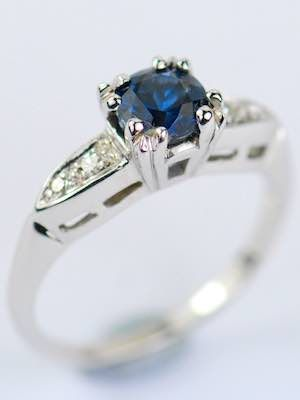 1930s Blue Sapphire Engagement Ring Rg 3186 In 2018 Vintage