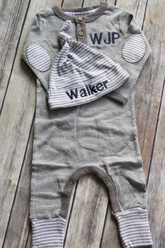 Photo of Personalized, Custom Made Baby Outfit, Upscale Baby Outfit, Going Home Outfit Boy-Baby Shower Gift-Coming Home Outfit Baby Boy