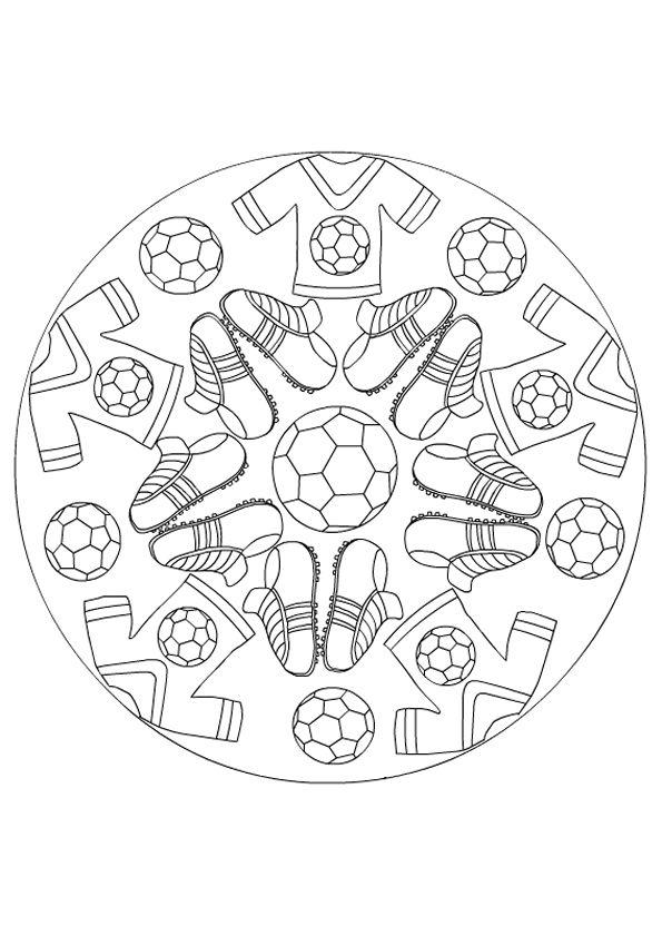 Kleurplaten Voetbal Mandala.Mandala Kleurplaten Proyecto Deportes Bilder