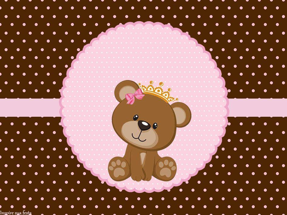 Ursinha Princesa Rosa e marrom - Kit digital gratuito ...