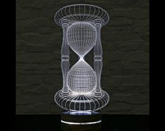 3d Led Lamp Hour Glass Shape Decorative Lamp Home Decor Table Lamp Office Decor Plexiglass Art Art Deco Lamp Acry 3d Led Lamp Lamp Decor Art Deco Lamps