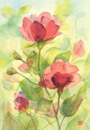 Step By Step Watercolor Instructions For Rambling Roses