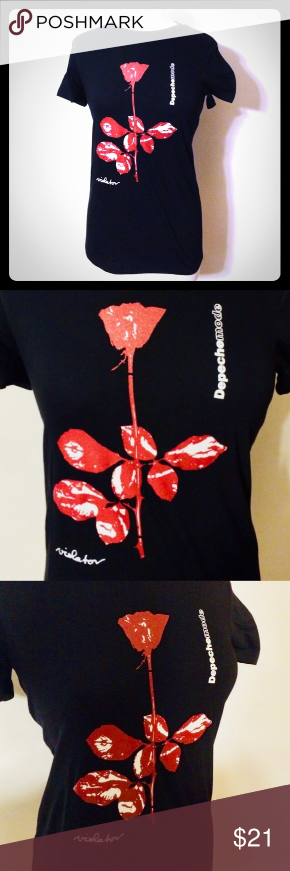 "ddcb333a0a Women s Depeche Mode ""violator"" T-Shirt! Made to order   screen printed"