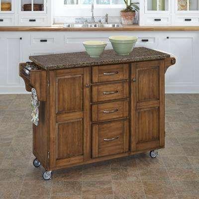 Create A Cart Warm Oak Kitchen Cart With Quartz Top Kitchen Island With Granite Top Kitchen Cart White Kitchen Cart