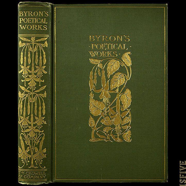 Details about 1900 LORD BYRON POEMS DRAMAS RARE ART NOUVEAU FINE